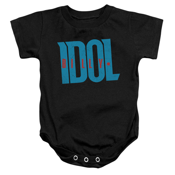 Billy Idol Logo Infant Snapsuit Onesie Baby Toddler 80's Icon Musician