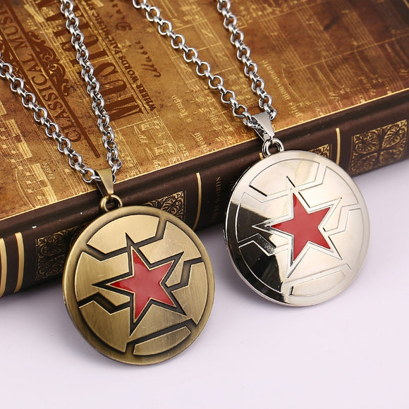 Winter Soldier Emblem Pendant Necklace Bucky Barnes Captain America