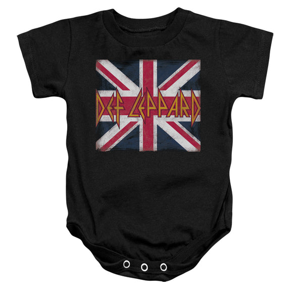 Def Leppard Union Jack Infant Snapsuit Onesie Baby Toddler Rock Band