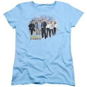 CSI: Miami Cast Short Sleeve Women's T-Shirt Fans Light Blue