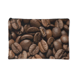 Coffee Beans Print Accessory Pouches Makeup Toiletries Travel Bag Small or Large Sizes