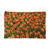 Tulips All-over Print Accessory Pouch Travel Makeup Bag Small And Large Sizes