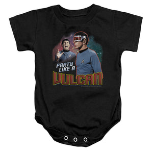 Star Trek Party Like A Vulcan Infant Snapsuit One-Piece Baby Toddler