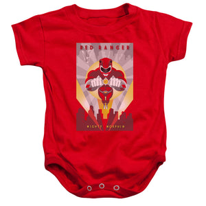 Power Rangers Red Ranger Infant Snapsuit Baby Toddler Mighty Morphin