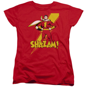 Shazam! Superhero Short Sleeve Women's T-Shirt DC Comics New Movie Red Tee