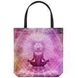 Yoga Meditation Everyday Tote Bag Yogi Spiritual Shoulder or Carry Double Sided Print