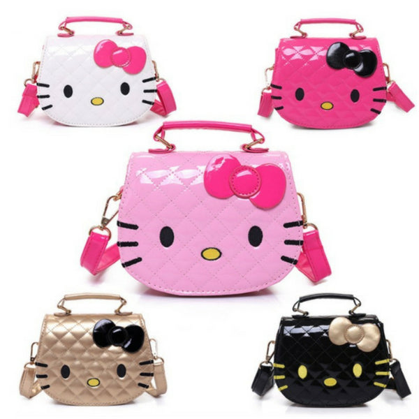 46439bc2a4 Hello Kitty Girls Mini Shoulder Bag Handle Adjustable Strap Child Kid Fan  ...