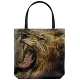 Roaring Lion Graphic Print Tote Bag Everyday Travel Beach Bags Shoulder or Carry