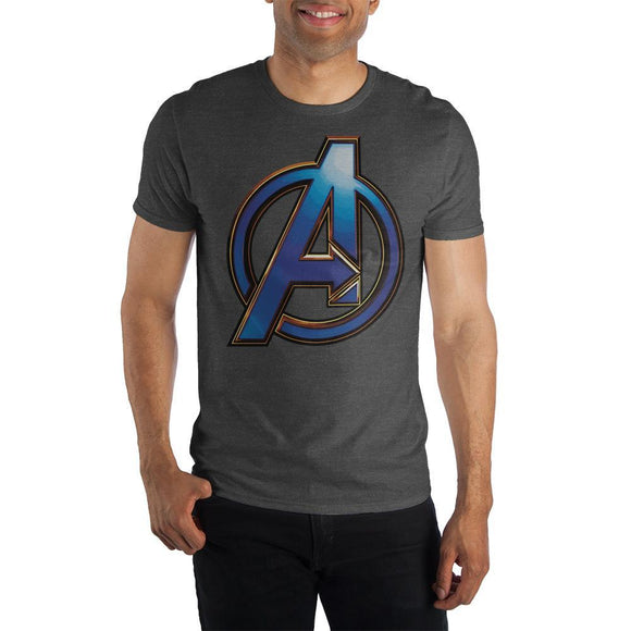 The Avengers 3D Logo Short Sleeve Men's T-Shirt Superheroes Fitted Tee