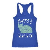 Cats and Tats Women's Racerback Tank Tops Summer Cat Moms Tattoos
