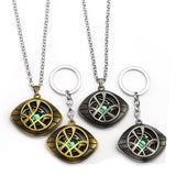 Doctor Strange Amulet Necklace and Keychain Eye of Agamotto Glow in the Dark