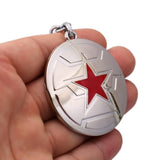 Winter Soldier Emblem Keychain Shield Bucky Barnes Captain America