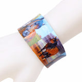 Colorful Horse Cuff Bangle Bracelet Arcylic Animal Jewelry Women