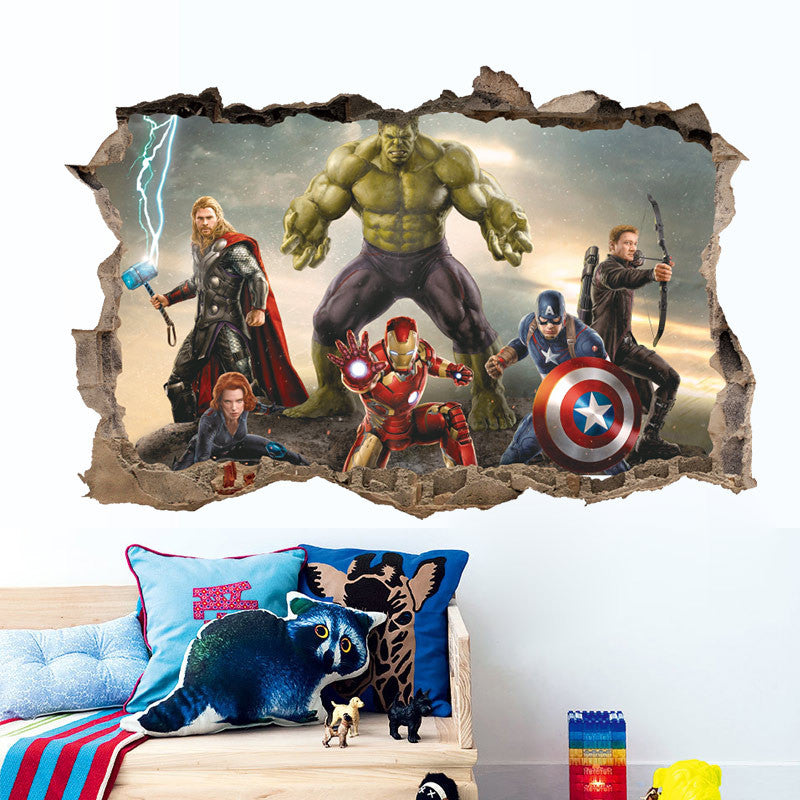 ... Avengers Are Here 3D Wall Sticker Peel Home Decor DIY Adults Kids Room  Decoration ...