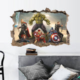 Avengers Are Here 3D Wall Sticker Peel Home Decor DIY Adults Kids Room Decoration