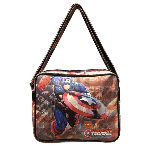 Captain America Leather Messenger Bag Marvel Comics Fans Women Men