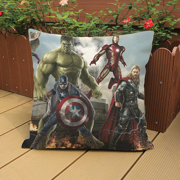 Avengers Pillow Covers Decorative Room Home Decor Marvel Superheroes