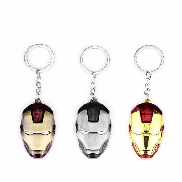Iron Man Mask Keychain Marvel Avengers Key Ring Accessories Fans
