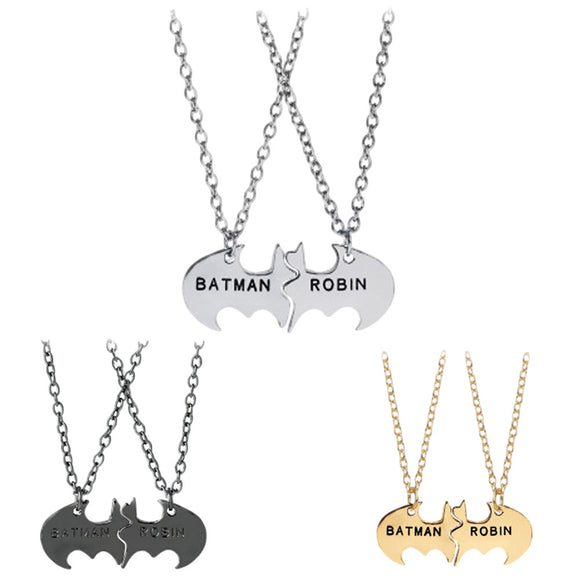 Batman and Robin Emblem Necklaces Sidekick Best Friends Superhero
