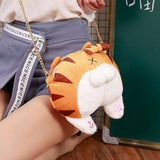 Cat Butt Tail Paws Soft Crossbody Shoulder Bags Small Women Teens Girls