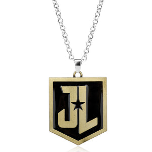 Justice League JL Logo Pendant Necklace Batman Aquaman Wonder Woman
