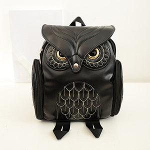 Women's Owl Shape Backpack 3D Design Birds High Quality PU Leather