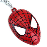 Spider-Man Mask Keychain Avengers Infinity War Movie Key Ring Accessories