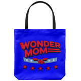 Wonder Mom Tote Bags Polyester Poplin Double Sided Print Travel Beach