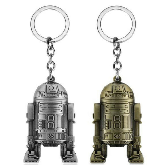 Star Wars R2-D2 Pendant Keychain Robot Character Keyring Last Jedi Fans