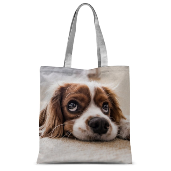 Cute Silly Face Dog Shopper Tote Bag Classic Sublimation Printing Custom