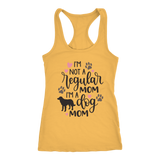 I'm A Dog Mom Women's Racerback Tank Top Cotton Blend Multiple Colors