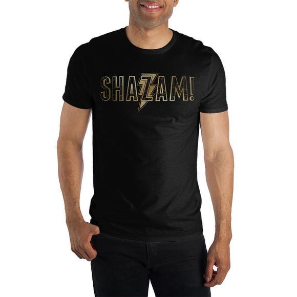 Shazam! 3D Print Short-Sleeve Men's T-Shirt DC Comics Superhero Fitted Tee Black