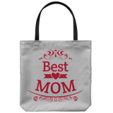 Best Mom Tote Bag Polyester Poplin Travel Shopper Everyday Beach Bags
