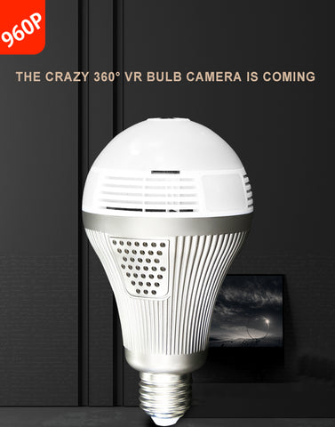 Smart LED Lights Cam Starlight night vision Bulb Home Security Camera