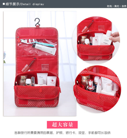 Multifunction Travel Cosmetic Wash Bag Organizer with Hook