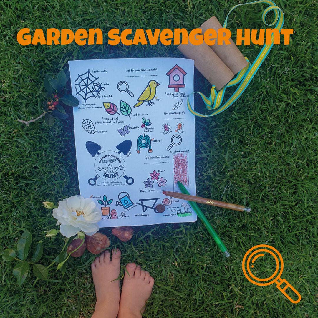 Scavenger Hunt - keeping your kids busy outside