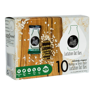 #10 Pack - Moringa & Green Apple Mrs Milk Lactation Oat Bar
