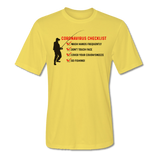 Coronavirus Checklist T-Shirt - Short Sleeve