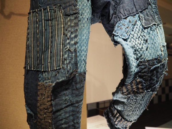 boro pants patchwork