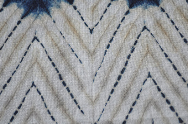 shibori indigo and coffee dye