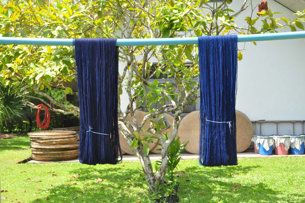 indigo dyed cotton skeins