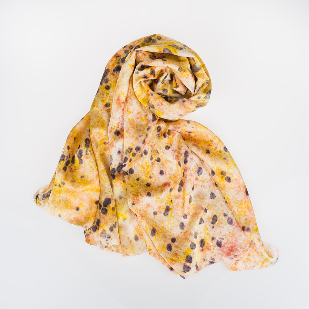 Silk Scarf - Leopard - Slowstitch Studio