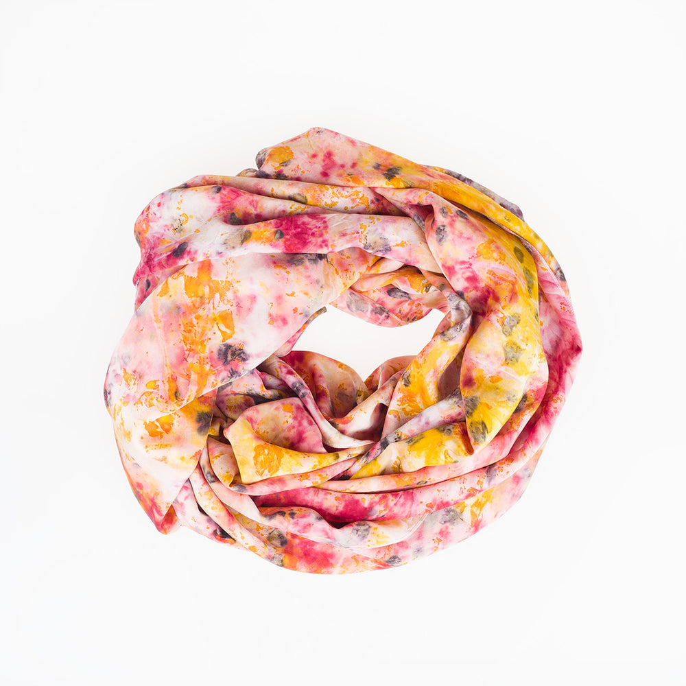 Silk Scarf - Meadow - Slowstitch Studio