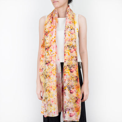 Ecoprint Silk Scarf - Petals - Slowstitch Studio