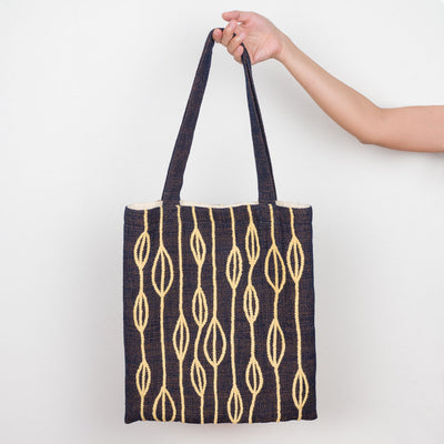 Embroidered Tote - Yellow Petals