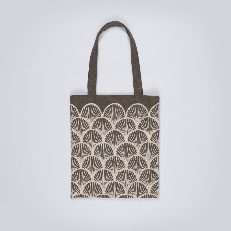Embroidered Tote - Beige Fans