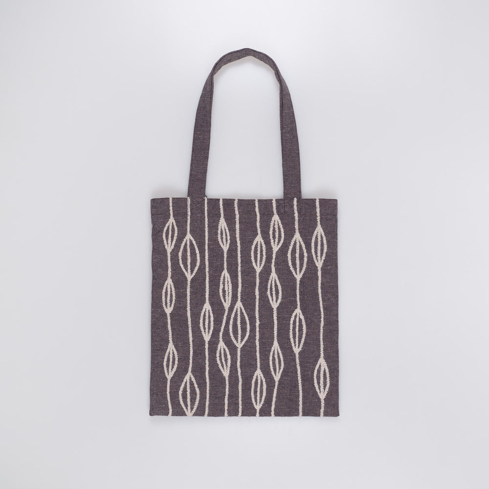 Embroidered Tote - Beige Petals