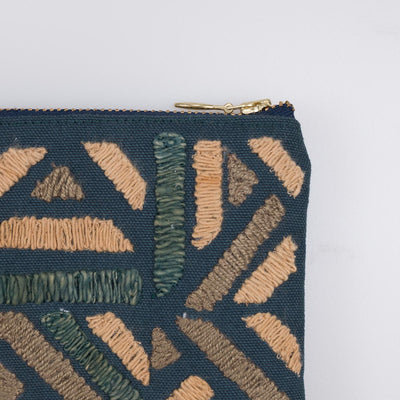 Embroidered Zip Pouch - Maya #1