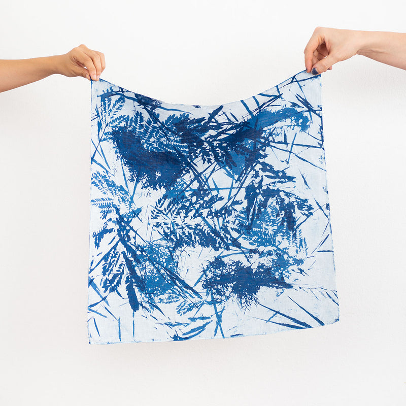 Furoshiki Wrapping Cloth - Blue Meadow