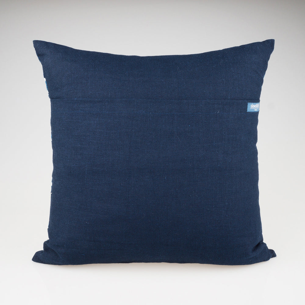 Shibori Indigo Pillow - Willow - Slowstitch Studio